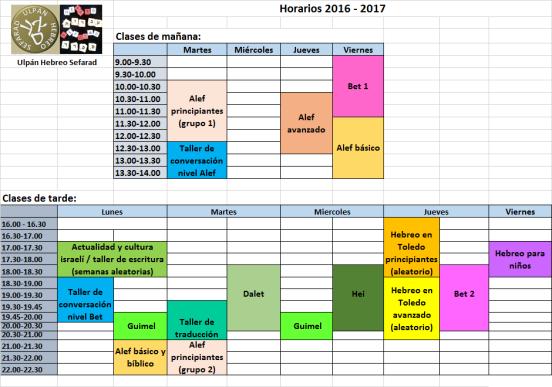 horarios anuales